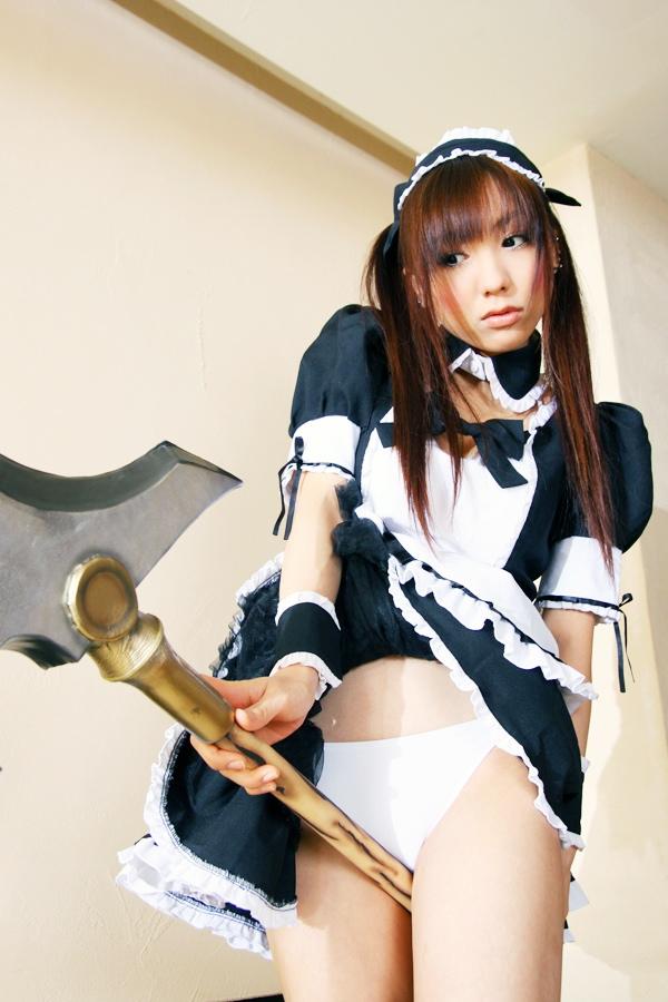 Sexy cosplay Misaki Hanamura 10